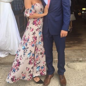 BAND OF GYPSIES FLORAL MAXI DRESS ONLY WORN ONCE